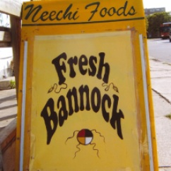 bannock sign outside