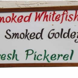 fish sign outside